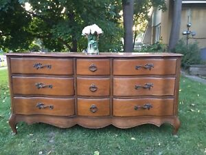 Delivery-long antique French dresser