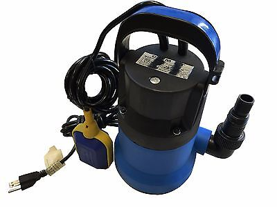 1hp 3432 Gph 750w Swimming Pool Flood Pond Submersible Dirty Clean Water Pump