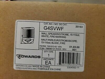 Est Edwards G4svwf Genesis White Speaker Strobe