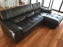 Leather Lounge Couch Sofa Domayne 3 Seater Chaise 2 Seater Cromer Manly Area Preview