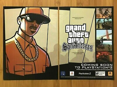 GTA Grand Theft Auto San Andreas PS2 2004 Vintage Print Ad/Poster Official Art