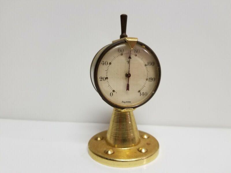 Frisy Germany Ship Engine Order Telegraph (E.O.T.) Chadburn Desk Thermometer