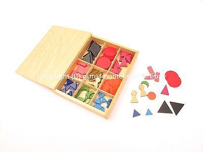 NEW Montessori Language Material - Basic Wooden Grammar Symbols with Box