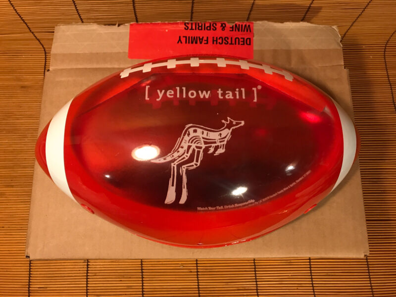 NEW YELLOW TAIL WINE HOLIDAY TAILGATE FOOTBALL LIGHTBOX Red