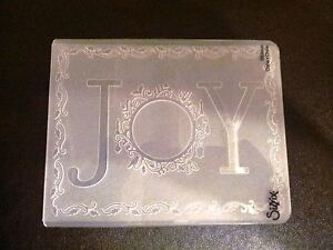 Sizzix Large Embossing Folder CHRISTMAS JOY WITH FRAME fits Cuttlebug 4.5x5.75in