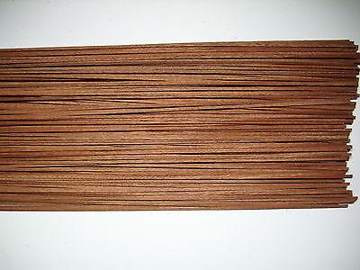 50 Holzleisten Mahagoni 800 x 3 x 0,6 mm