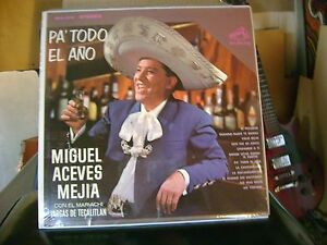 SEALED SPANISH MEX LATIN LP~MIGUEL ACEVES MEJIA~PA TODO EL ANO/EL PECADOR &~HEAR