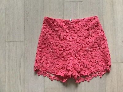 HOLLISTER PINK CORAL LACE SHORTS SIZE 3 NEW for sale  Shipping to India