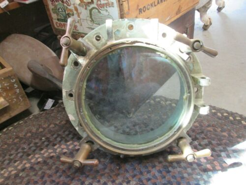 "Large Heavy Brass 15"" Porthole"