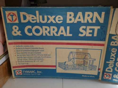 Vintage Tymarc Deluxe Barn  Corral Set Real Wood