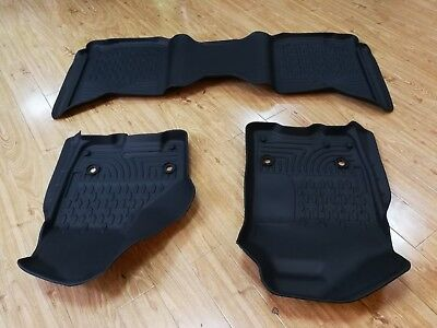 All Weather 3D Injection Molded Floor Mats 09 18 Dodge Ram 1500 2500 FrontRear