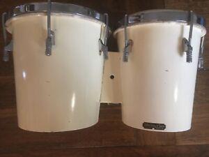 Vintage John Grey bongo drums