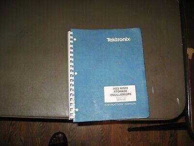 Tektronix Userinstructional Manual 7633r7633 Storage Oscilloscope With Opts