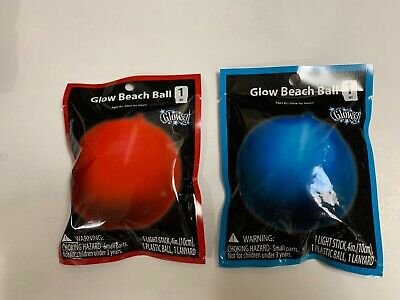 Light up beach Ball Glows For Hours Red or Blue Free Shipping included