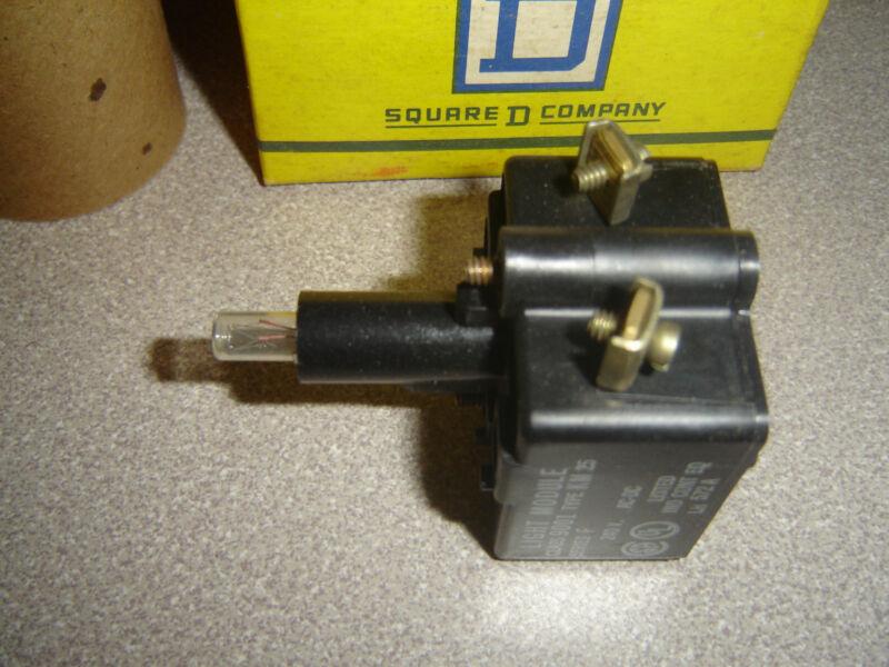 Square D 9001 KM-25 Light Module Resistor type 240v AC-DC Series F No Lens 72632
