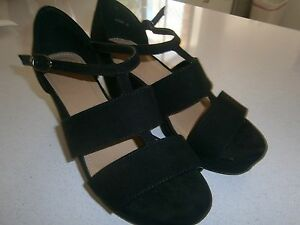 Black sandals size 7 Robina Gold Coast South Preview