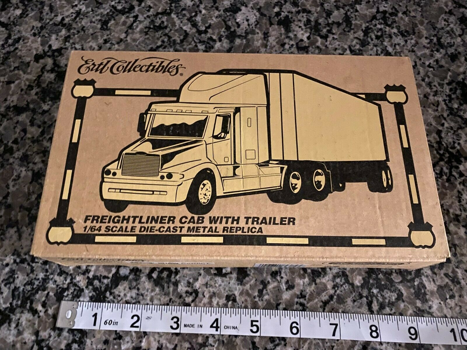 Ertl Collectibles Freightliner Cab with Trailer 1/64 scale Die-Cast  MINT NIB!!!