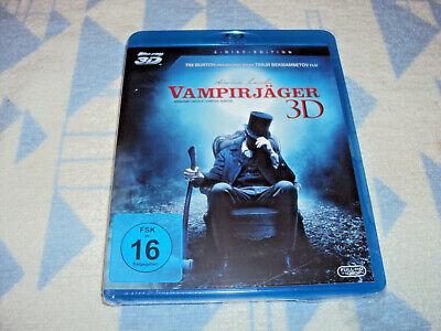 Abraham Lincoln - Vampirjäger [Blu-ray 3D + Blu-Ray 2D ] NEU OVP