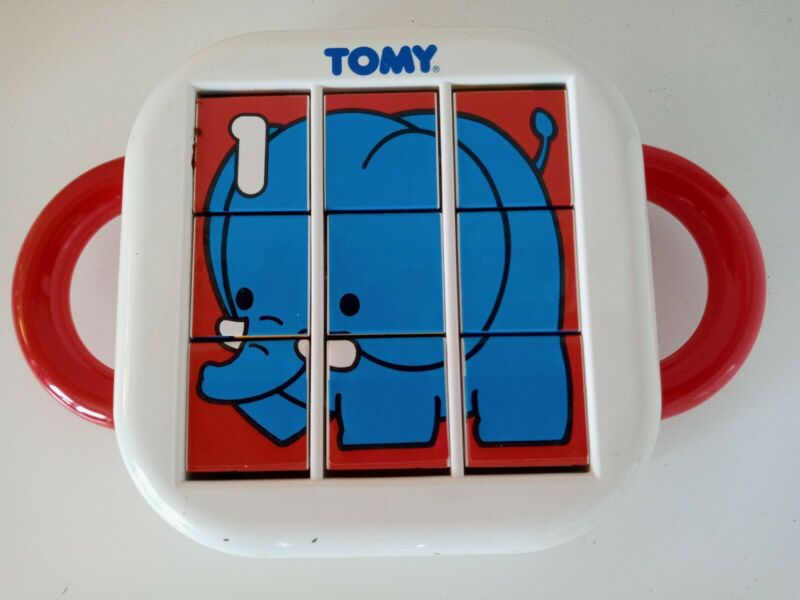 Vintage 1992 TOMY Animals Flip Tile toy