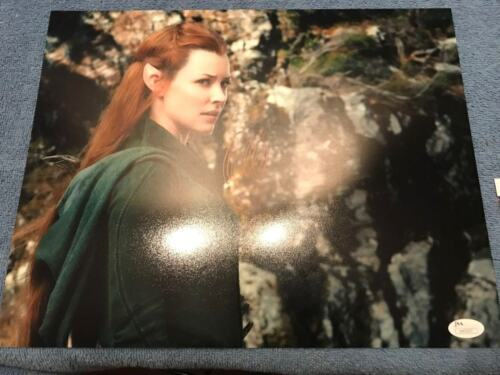 Hobbit Evangeline Lilly Autographed Signed 11x14 Photo JSA COA #1