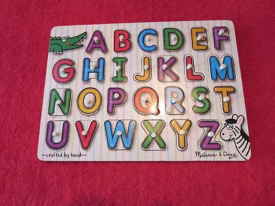 See Inside Alphabet Puzzle - Melissa & Doug See-Inside Alphabet Wooden Peg Puzzle (26 pcs)