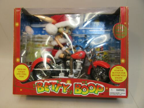 2003 Christmas Talking Betty Boop on a Motorcycle