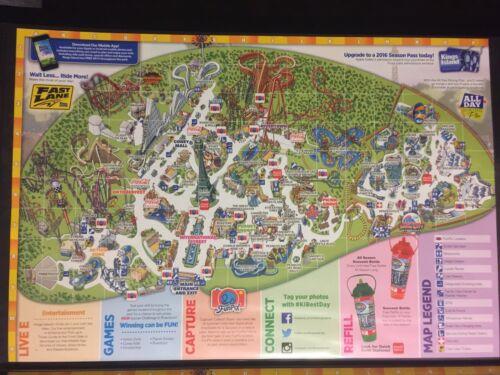 2016 Kings Island Amusement Park Map Guide Cincinnati Official OHIO - $9.99