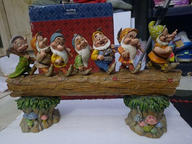 "Disney Traditions HOMEWARD BOUND 7 Dwarfs Log Figurine by Jim Shore 12"" w/Box"