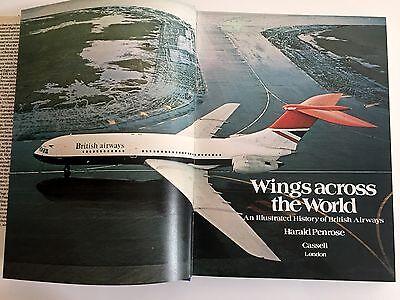 BRITISH AIRWAYS ILLUSTRATED VINTAGE HISTORY BOOK BOAC BEA IMPERIAL AIRWAYS BA