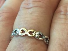 New Pandora silver and 14 carat gold ring Ruse Campbelltown Area Preview