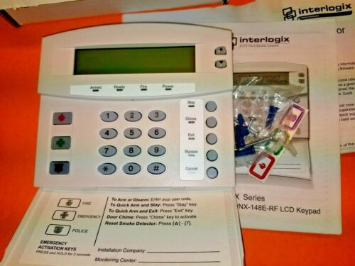 Interlogix GE Security NetworX NX-148E-RF LCD Keypad w/ Wireless Receiver NEW!