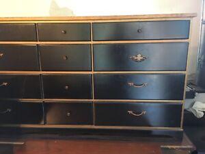 Black antique dressers