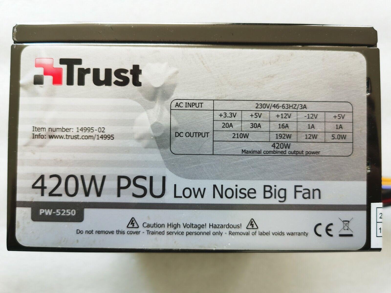 ✅alimentation pc trust 14995-02 420watts