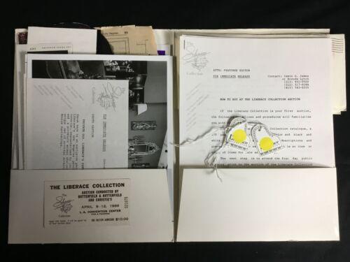 THE LIBERACE COLLECTION MEGA BUNDLE AUCTION MEMORABELIA PHOTOS RECIEPTS AND MORE