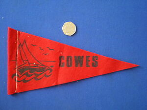 Cowes-I-O-W-Souvenir-Pennant-1960s
