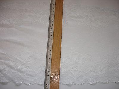 elastische Spitze weiß 21,5cm breit AO60