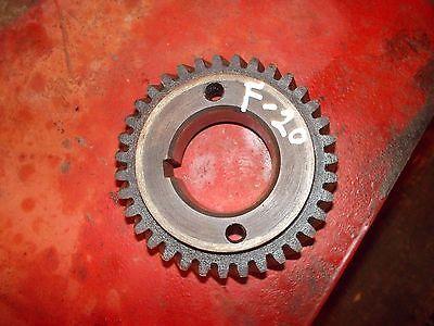 1938 Mccormick Farmall F20 Tractor Ih Engine Motor Crankshaft Crank Drive Gear