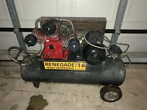 Renegade RP16 Air Compressor Three Cylinder Belt Drive | Other Tools