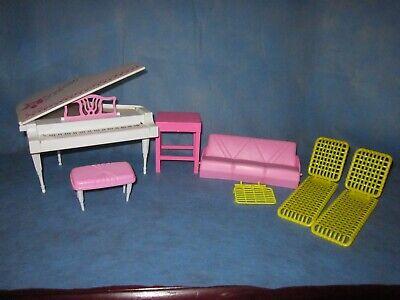 Vintage Lot Barbie ARCO Mattel Furniture Concert Set, Piano, ETC