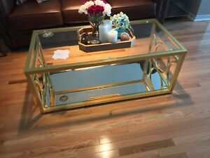 Brand New Glass Brass Cofee table! $300