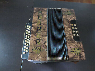 Vintage Hohner Club Modell II Accordian ** For Parts or Repair **
