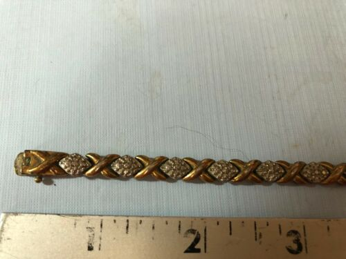 925 Sterling Silver XO Link  Tennis Bracelet Vintage ESTATE Jewelry