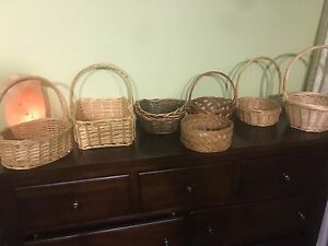 7 wicker baskets