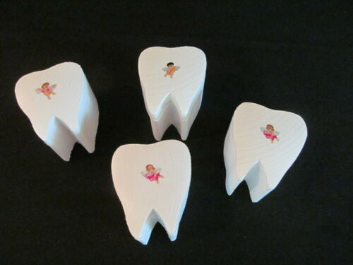 Wooden Tooth Fairy Box with Swivel Lid