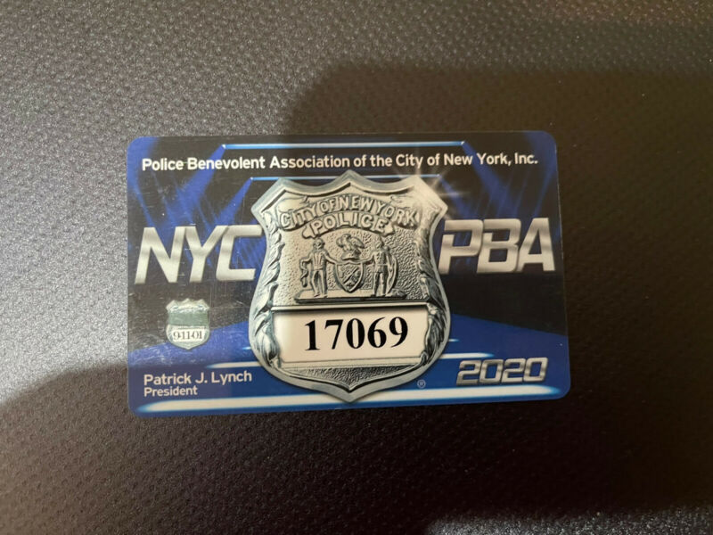 2020 NYC PBA Card!!!