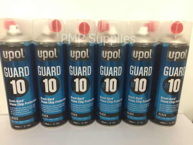 Upol Davids GUARD#10 Gravi-Gard Stone Chip Protector Black NEW Gravigard x 6