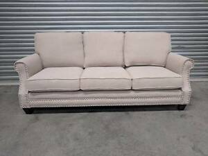 "Latte Fabric ""Mary"" 3 Seat Sofa SALE - BRAND NEW Epping Whittlesea Area Preview"