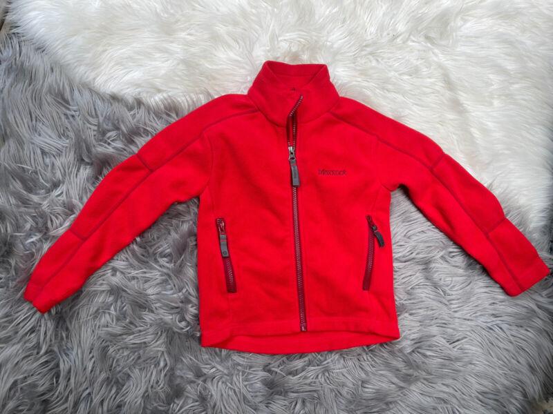 Baby Boys Marmot Fleece Jacket Size XS Red Zipper