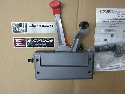 JOHNSON EVINRUDE SIDE MOUNT CONTROL BOX 173286 DUAL LEVER SIMPLEX BOX 6 - 40 HP
