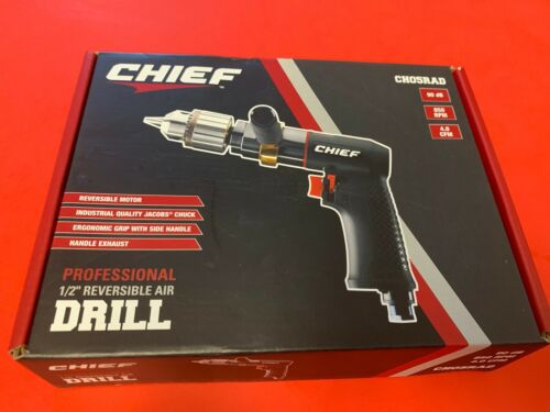 CHIEF PROFESSIONAL 1/2 REVERSIBLE AIR DRILL CH05RAD  Fast Shipping